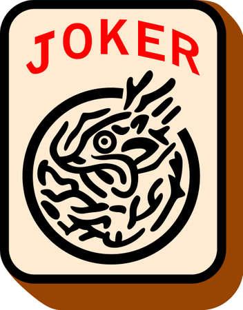'S Middags in een spel van mahjong. Voeg de joker om je spel dag plezier.