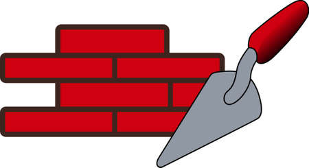 laborer: Create a special promotional item for a skilled brick layer.  This graphic is perfect for most any media including print and screen printing. Illustration