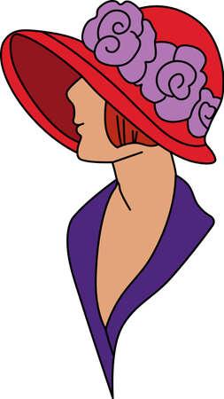 dames Red Hat Société habillent toujours dans leurs plus beaux accessoirisé avec un grand chapeau rouge. Ceci est la conception parfaite pour créer quelque chose de spécial pour votre ami spécial Red Hat.