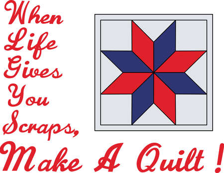 Decorate a box full of quilters supplies with this creative design.  A creative design for the ultimate creative genius. Çizim