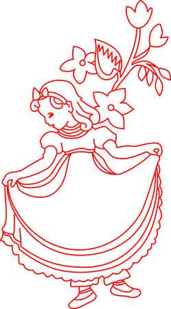 Redwork은 간단하면서도 사랑스러운 장식을 만듭니다. 이 동요 문자는 클래식 아기의 보육을 만들 단지 최적입니다.