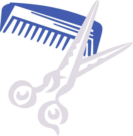 here's: Heres the perfect   for the hair stylist featuring all the tools of the trade.  Great print art for business cards.