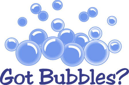 Bath time bubbles are such a fun treat for the little people.  These bubbles make a super decoration for babys bath time!