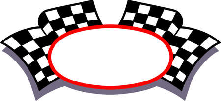 Feed the racing bug with this checkered flag frame.  Add your custom text for something extra special.