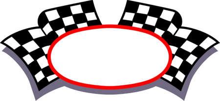 Nourrissez le bug de course avec ce cadre drapeau à damier. Ajoutez votre texte personnalisé pour quelque chose d'extra spécial. Vecteurs