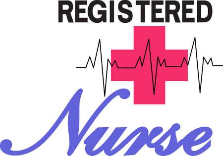 Ständige Aufmerksamkeit durch eine gute Krankenschwester kann von einem Chirurgen als große Operation genauso wichtig sein. Ehre, eine fantastische Krankenschwester mit diesem auffälligen Design. Großes T-Shirt-Kunst! Standard-Bild - 51219855