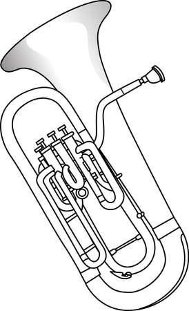sounds: Add some lively musical sounds onto your project with this sousaphone line art. Illustration