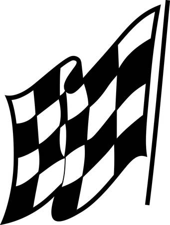 The checkered flag means go!  A perfect design to create a shirt for race day!  Great for any media. 向量圖像
