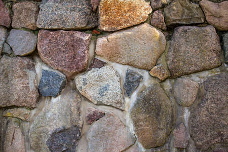 Wall of large coarse stones, background, texture 版權商用圖片