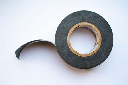 Coil of electrical tape Stock Photo