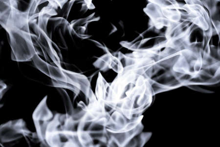 beautiful white tongues of flame, fire dance, background texture Stock Photo