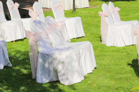 chairs for guests at the wedding
