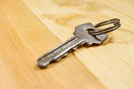 vintage keys over wooden table
