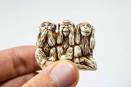 figurine three monkeys, do not see, do not hear, do not speak, symbol