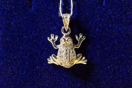 jewelery in the form of a frog