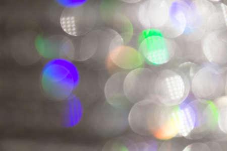 small blurry spots of gray light