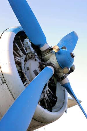 old single-engine airplane screw