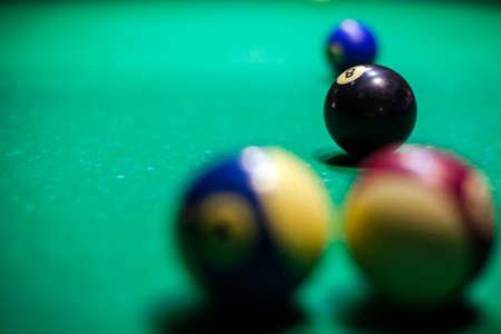 billiard balls on the table Archivio Fotografico - 108226274