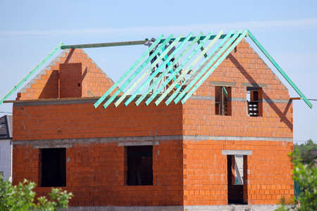 roofing work on the construction of a new house