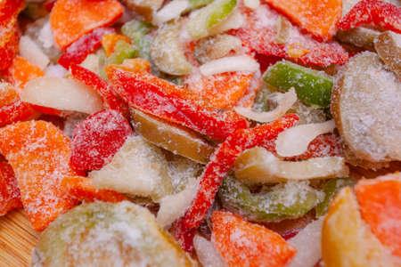 bright colored sliced frozen vegetables Banque d'images - 110024448
