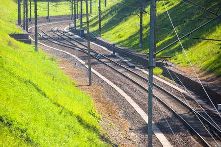 neat railway tracks