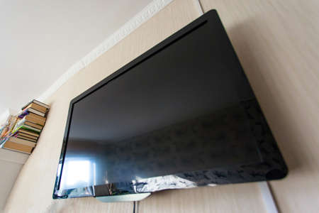 LCD TV on the wall