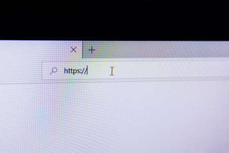 browser address bar on the screen with the inscription