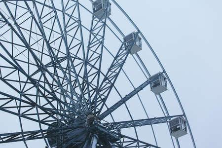 huge metal construction ferris wheel 写真素材 - 118104389