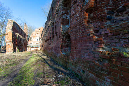 ruins of medieval Prussian castle of Balga belonging to the Knights of the Teutonic Order