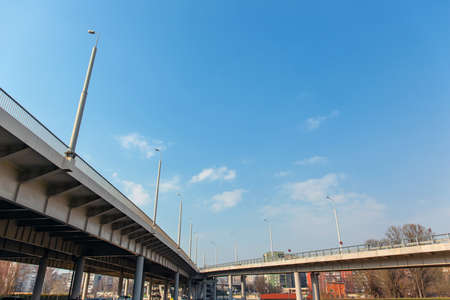 architecture of a modern automobile bridge, geometry of lines Stock fotó