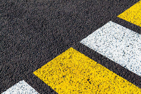 bright markings of a pedestrian crossing on asphalt, background, texture Stock fotó