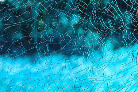 broken glass with many small cracks, background, texture