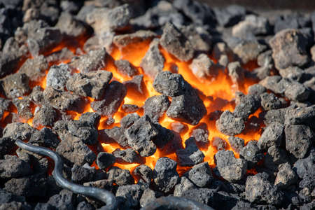 hot coals in the forge Stock fotó