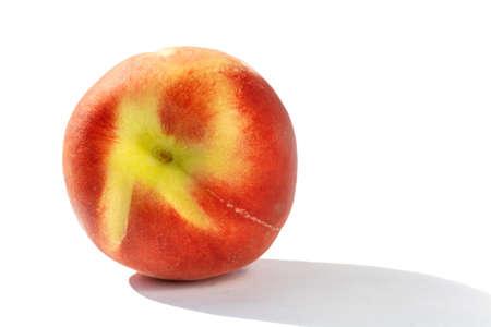 juicy ripe peach in natural sunlight, isolate Stock fotó - 134718266