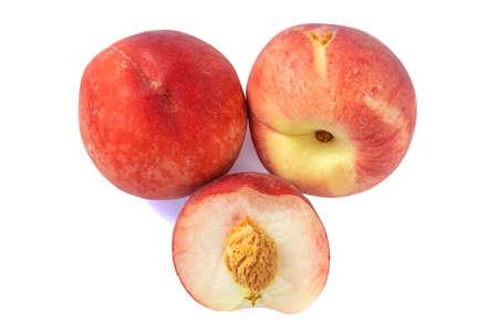 juicy ripe peaches in natural sunlight, isolate Stock fotó - 134718575