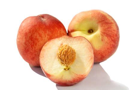 juicy ripe peaches in natural sunlight, isolate Stock fotó - 134719256