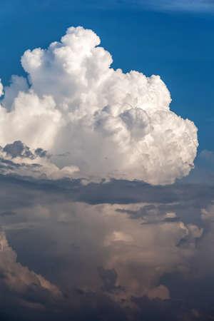 large white cumulus rain cloud