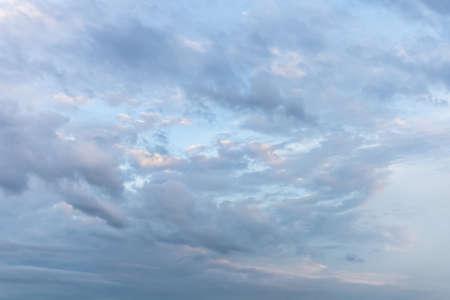 gentle light clouds in the sky 免版税图像