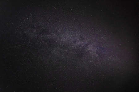 dark night sky with milky way and millions of stars 免版税图像 - 158152491