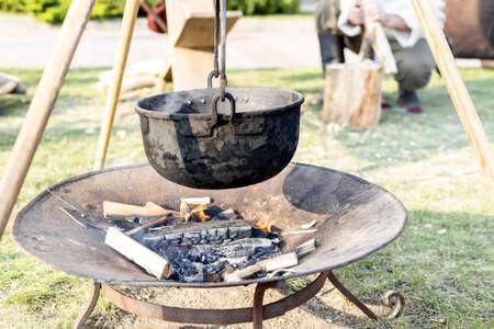Camping Black Campfire Cooking Pot