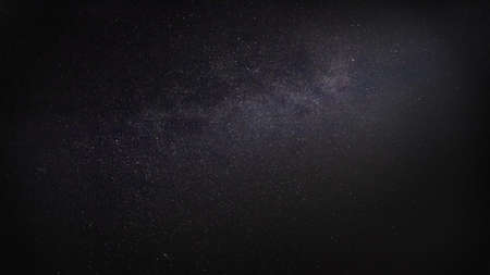 dark night sky with milky way and millions of stars