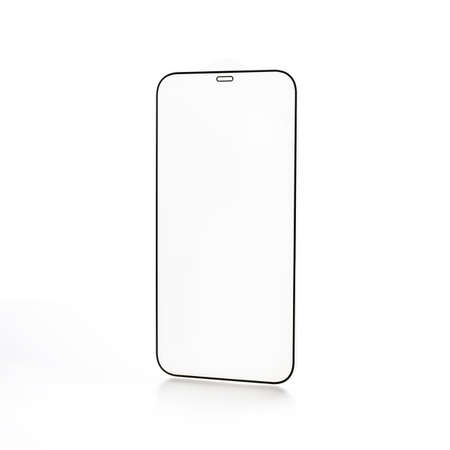 protective glass for a modern smartphone on a white background 免版税图像