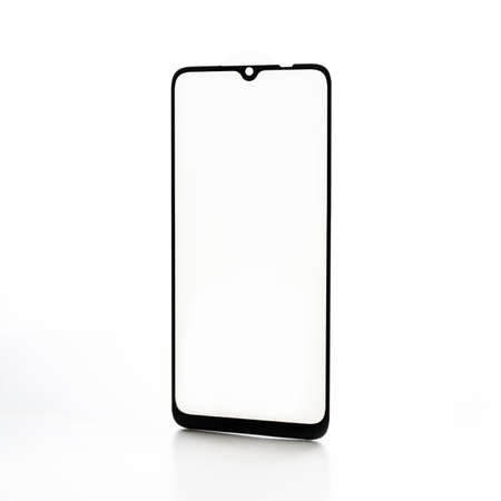 protective glass for a smartphone on a white background
