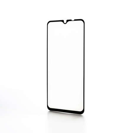 protective glass for a smartphone on a white background 免版税图像 - 158152785