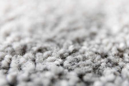 macro villi of a home gray carpet 免版税图像