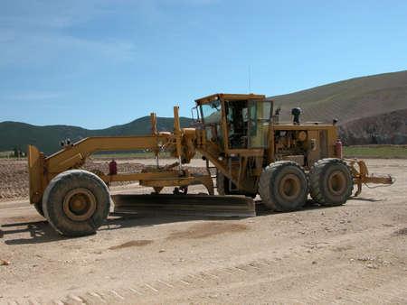 Earth Grader at Zortman Landusky Mine, Montana.