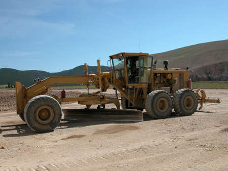 Earth Grader at Zortman Landusky Mine, Montana.  Stock Photo - 6808080