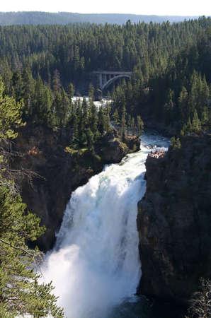 kepler: Upper Waterfall in Yellowstone National Park.