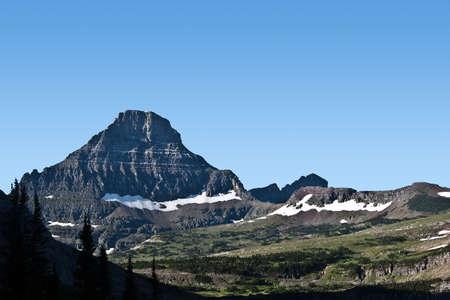 reynolds: Logan Pass at sunrise at in Glacier National Park, Montana Stock Photo