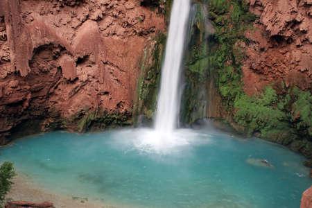 Mooney Falls located on the Havasupai Indian Reservation, Arizona Stock Photo - 6807929